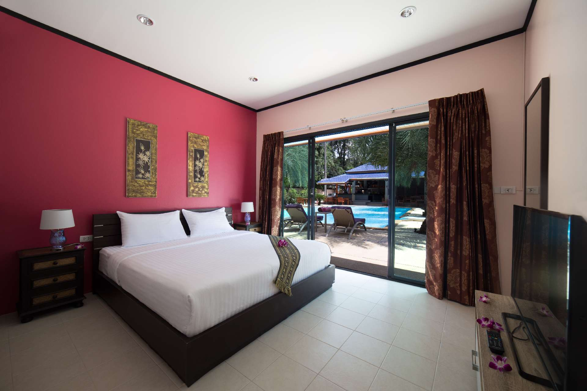 Bedroom with Pool View - Ma Maison Phuket in Bang Tao Beach 001