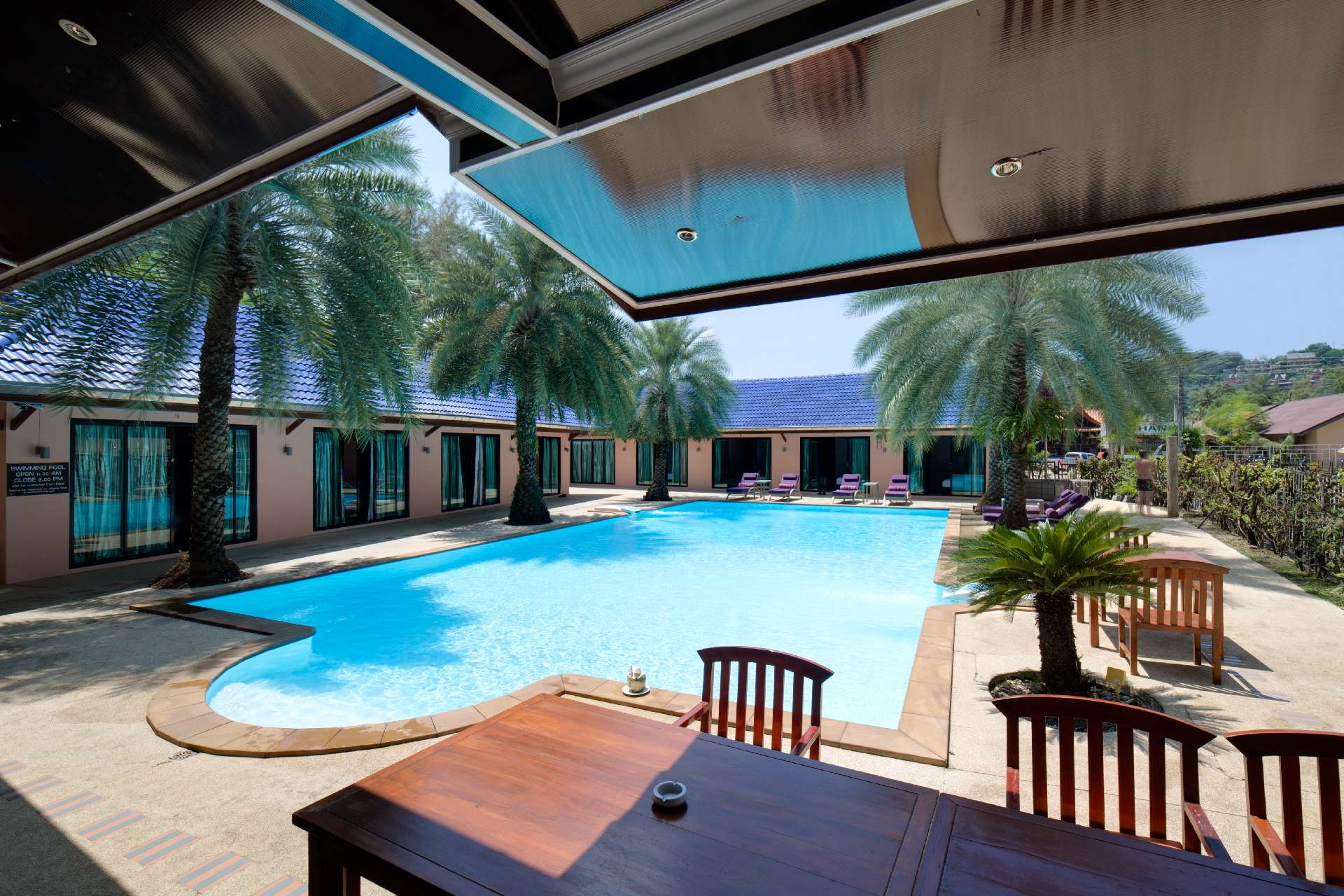 View of the swimming pool from the restaurant - Ma Maison Phuket in Bang Tao Beach 006